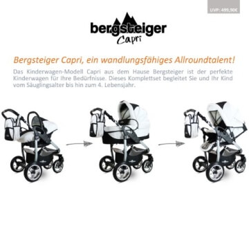 Bergsteiger Capri Kombikinderwagen 3-in-1 - System - 3