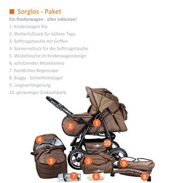 Bergsteiger Rio Kombikinderwagen + Softtragetasche + Wickeltasche (10 - Teile) - 2