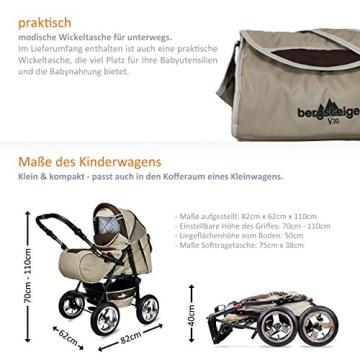 Bergsteiger Rio Kombikinderwagen + Softtragetasche + Wickeltasche (10 - Teile) - 5