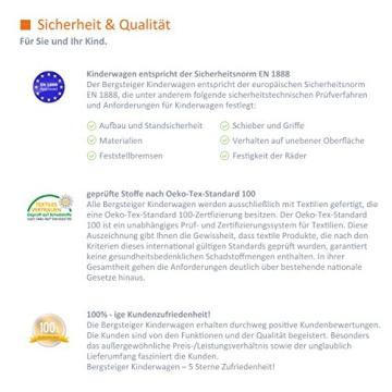 Bergsteiger Rio Kombikinderwagen + Softtragetasche + Wickeltasche (10 - Teile) - 6