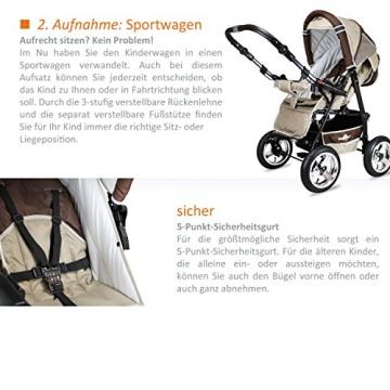 Bergsteiger Rio Kombikinderwagen + Softtragetasche + Wickeltasche (10 - Teile) - 8