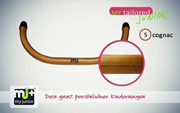 My Junior+® Miyo 3in1 Kombikinderwagen Komplettset bis zum 4.Lebensjahr---3 Years Guarantee---+Autositz (11-Teile-Megaset) Premium Kinderwagen (Jeans-Blue White Edition) - 6
