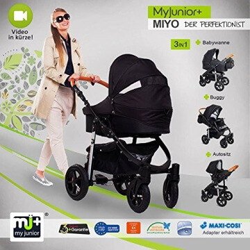 My Junior+® Miyo Kombikinderwagen 3 in 1-3 Years Guarantee-Autositz (11-Teile-Set) - 1